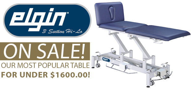 Elgin 3 Section Electric Hi Lo Treatment Table On Sale!