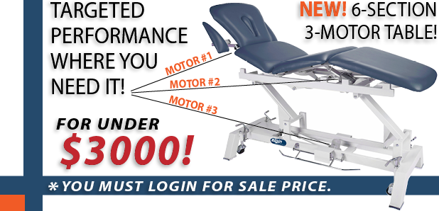 New Elgin 6 Section 3 Motor Treatment Table