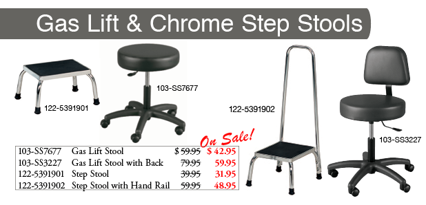 Gas Lift & Step Stools SALE