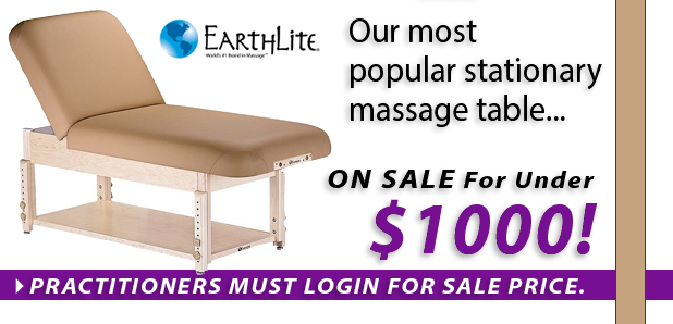 Earthlite Sedona Manual Tilt Massage Table with Shelf ON SALE!