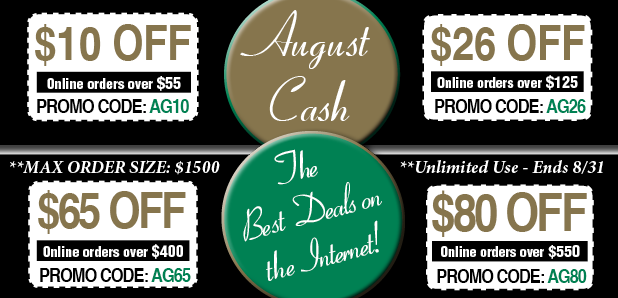August Cash Off Coupons
