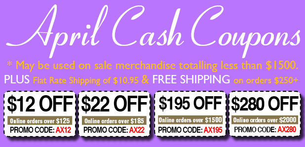 APRIL CASH COUPONS!