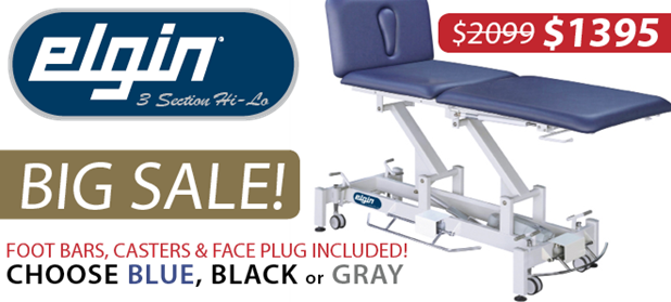 Elgin Treatment Tables ON SALE!