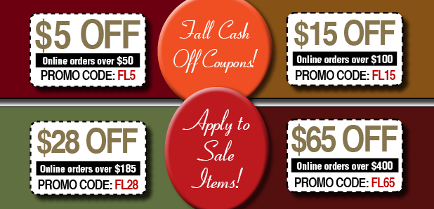 FALL CASH OFF COUPONS - APPLY TO SALE ITEMS TOO
