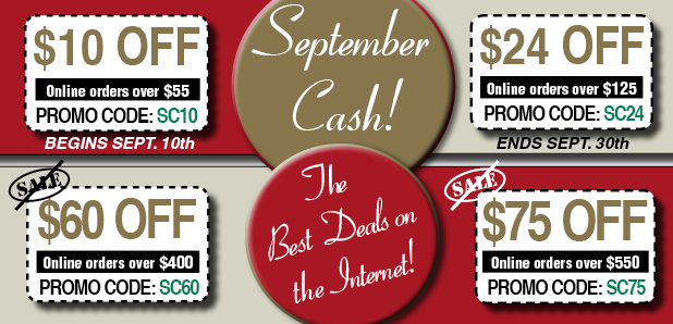 September 2019 Cash Off Coupons