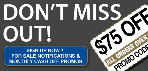 SIGN UP FOR CASH OFF PROMOS!