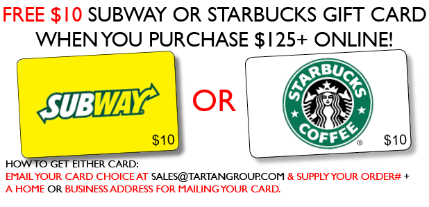 FREE Subway or Starbucks $10 Gift Card!
