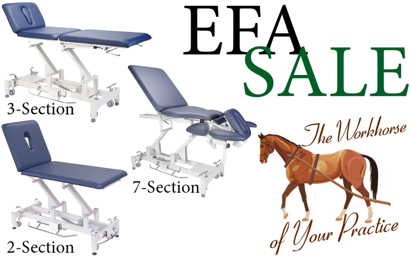ALL 3 EFA PT TABLES ARE ON SALE!